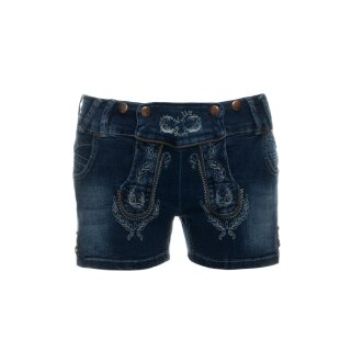 Trendige Trachten - Jeans - Short Fb. blue denim
