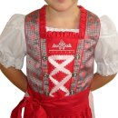 Fesches Kinderdirndl mit Bluse & Schürze Fb. rot / rose 110