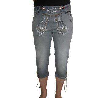 Trendige Trachten - Kniebund - Jeans Fb. grau