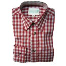 Original Trachtenhemd Fb. rot - kariert 41/42  L