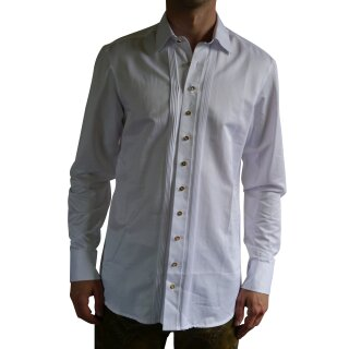 Original Trachtenhemd Fb. weiß mit Hemdkragen 37/38  S