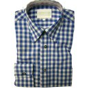 Trachten-Set (44) 4-teilig hasel Kniebundhose Hemd blau...