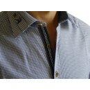 Trachtenhemd HIRSCH Fb. blau kariert