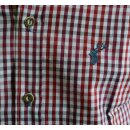 Trachtenhemd OS Fb. rot kariert SLIM FIT