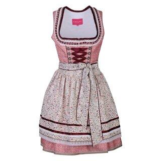 Dirndl / Kleid TILDA mit Schürze Fb. rose / natur L 50 cm