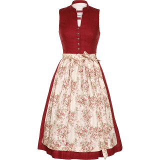 Dirndl / Kleid GERLINDA  mit Schürze Fb. brombeer L 58 cm 32