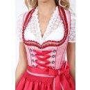 Dirndl / Kleid ELIANE mit Schürze Fb. rot L 50 cm