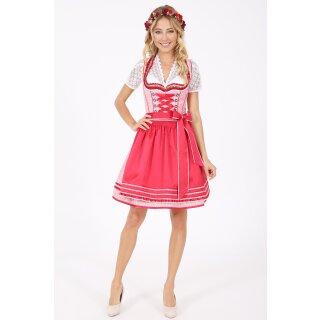 Dirndl / Kleid ELIANE mit Schürze Fb. rot L 60 cm