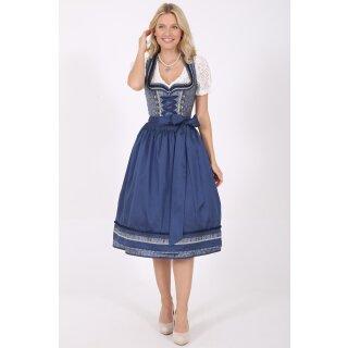 Dirndl / Kleid ALISON mit Schürze Fb. blau L 70 cm