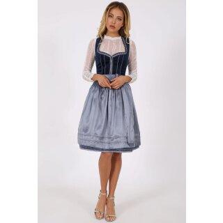 Dirndl / Kleid NERINA mit Schürze Fb. blau L 60 cm